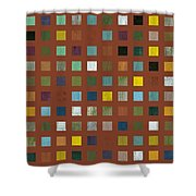 Rustic Wooden Abstract Vll Shower Curtain
