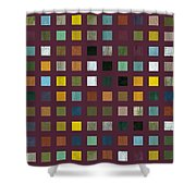 Rustic Wooden Abstract Vlll Shower Curtain