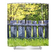 Rustic Wooden Fence At Old World Wisconsin Shower Curtain