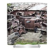 Rusting Antique Cars Shower Curtain