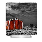 Rusting Away Shower Curtain by Meirion Matthias