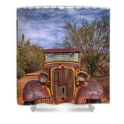 Rusting In Robson's Mining World Shower Curtain