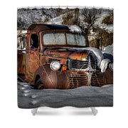 Rusting In Winter Shower Curtain