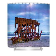 Rusting Peter Iredale Shower Curtain