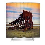 Rusting Shipwreck Shower Curtain