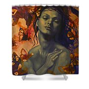 Rustle Shower Curtain by Dorina  Costras
