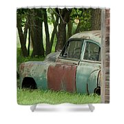 Rustmobile And Shack Shower Curtain