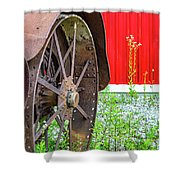 Rustology - The Aesthetics Of Rusty Line And Form Shower Curtain