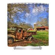 Rusty 1947 Dodge Dump Truck Shower Curtain