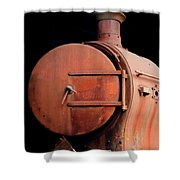 Rusty Abandoned Steam Locomotive Shower Curtain