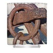 Rusty Anchor Chain Shower Curtain