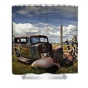 Rusty Auto Wreck Out West Shower Curtain