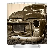 Rusty But Trusty Old Gmc Pickup Shower Curtain by Gordon Dean II