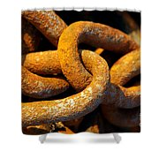 Rusty Chain Shower Curtain