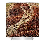Rusty Chain Link Shower Curtain