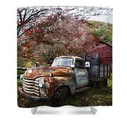 Rusty Chevy Pickup Truck Shower Curtain