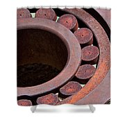 Rusty Circles Shower Curtain