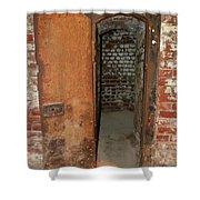 Rusty Door At Ohio Prison Shower Curtain