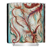 Rusty Feathers Shower Curtain