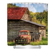 Rusty Ford At The Barn Shower Curtain