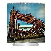 Rusty Forgotten Shipwreck Shower Curtain