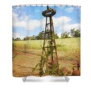 Rusty Garden Feature Shower Curtain