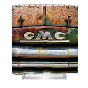 Rusty Gmc Truck Shower Curtain
