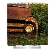 Rusty Gold  Shower Curtain