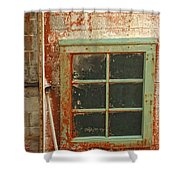 Rusty Lighthouse Window Shower Curtain