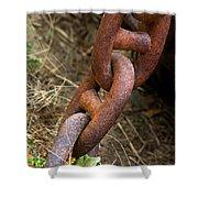 Rusty Links Shower Curtain