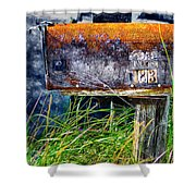 Rusty Mailbox Shower Curtain