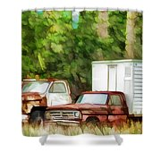 Rusty Old Abandoned Truck 1 Shower Curtain