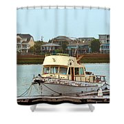 Rusty Old Boat Shower Curtain