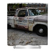 Rusty Old Dodge Shower Curtain