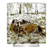 Rusty Old Holden Car Wreck  Shower Curtain
