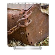 Rusty Old Ore Scoop Shower Curtain