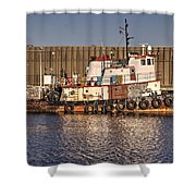 Rusty Old Tug Boat Shower Curtain