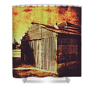 Rusty Outback Australia Shed Shower Curtain