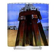 Rusty Pillars Shower Curtain