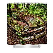 Rusty Plymouth Shower Curtain
