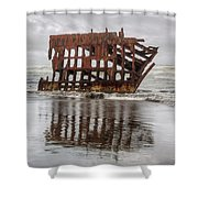 Rusty Reflections Shower Curtain