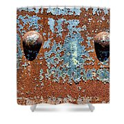 Rusty Rivets Shower Curtain