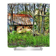 Rusty Roof Shower Curtain