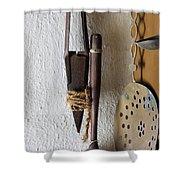 Rusty Sheep Shears Shower Curtain
