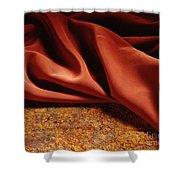 Rusty Silk Shower Curtain