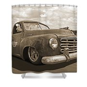 Rusty Studebaker In Sepia Shower Curtain