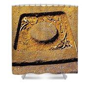 Rusty Texture Macro Shower Curtain