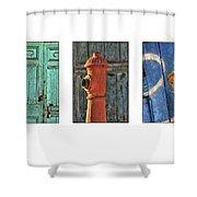 Rusty Triptych Shower Curtain