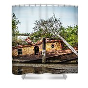 Rusty Tug Shower Curtain