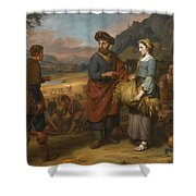 Ruth And Boaz Shower Curtain